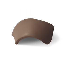 Вальмовая черепица с зажимами (3 шт) Braas Таунус Темно-коричневый