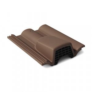Вентиляционная черепица Braas Таунус 420х330 мм Темно-коричневый