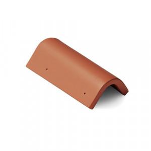 Боковая универсальная черепица Braas Янтарь 420 мм Антик красный