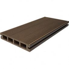 Террасная доска ДПК Dias Deck 140х25 мм двусторонняя Шоколад