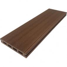 Террасная доска ДПК DPK-Pro Standart 150х26 мм двусторонняя Шоколад
