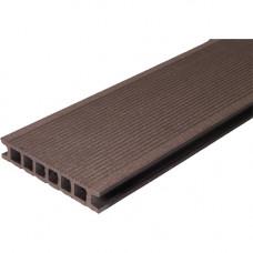 Террасная доска ДПК WPC-Deck 137х26 мм двусторонняя Кофе