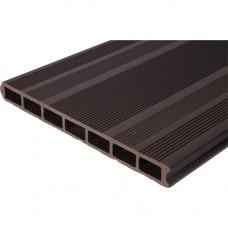 Заборная доска ДПК WPC-Deck 300х30 мм двусторонняя полая Шоколад