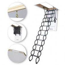 Ножничная лестница металлическая Fakro LSZ 280 см 50х80 см