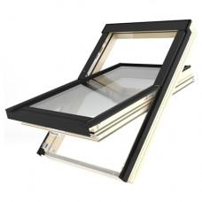 Мансардное окно Fakro FTT U8 Thermo с окладом EHV-AT+XDK 55х98 см