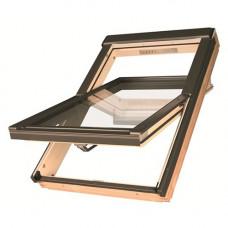 Мансардное окно Fakro PTP-V/GO U3 из ПВХ сосна 55х78 см