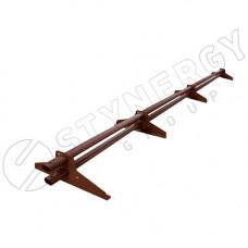 Снегозадержатель трубчатый Prime ST Stynergy 3 м (4 опоры) d45х25 мм