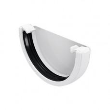 Заглушка желоба ПВХ FineBer 120/80мм Белый