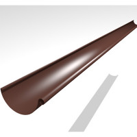 Желоб водосточный Интерпрофиль 125 мм PE 2.0 м