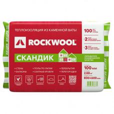 Утеплитель Rockwool Лайт Баттс Скандик 800х600х100мм 2.88м2 0.288м3