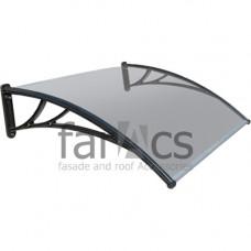 Козырек FarAcs 1200 мм (кронштейн черный, поликарбонат прозрачный)