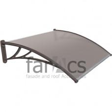 Козырек FarAcs 1200 мм (кронштейн коричневый, поликарбонат бронза)