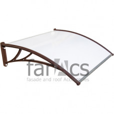 Козырек FarAcs 1200 мм (кронштейн коричневый, поликарбонат молочный)