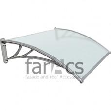 Козырек FarAcs 1200 мм (кронштейн серебристый, поликарбонат молочный)