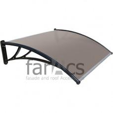 Козырек FarAcs 1500 мм (кронштейн черный, поликарбонат бронза)