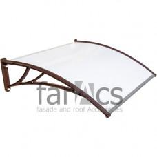 Козырек FarAcs 1500 мм (кронштейн коричневый, поликарбонат молочный)
