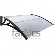 Козырек FarAcs усиленный 1500 мм (кронштейн черный, поликарбонат прозрачный)