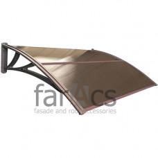 Козырек FarAcs усиленный 1500 мм (кронштейн коричневый, поликарбонат бронза)